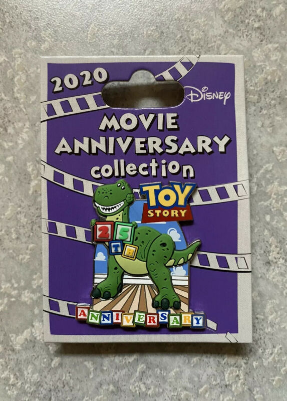 Disney Cast Exclusive 25th Anniversary Movie Toy Story Pin LE 1000 Rex Woody
