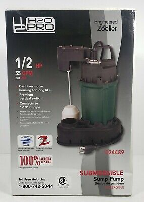 Zoeller H2o Pro 12 Hp Submersible Sump Pump 55 Gpm 24489