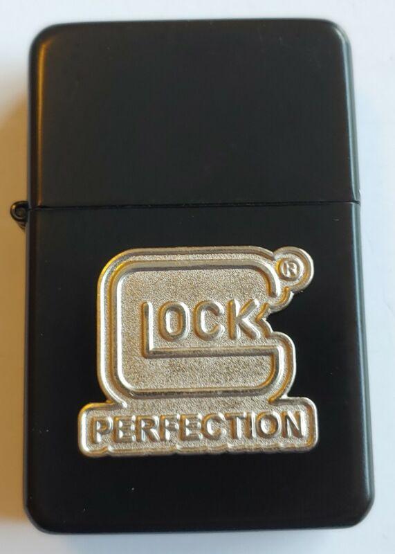STAR-1 MATTE BLACK Lighter w/ GLOCK PERFECTION Emblem in Gift Tin Box