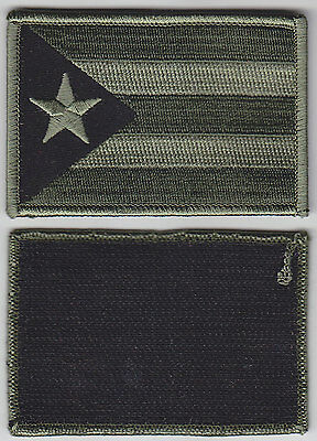 Puerto Rico PR Territorial Flag Patch Hook Fastener OD GREEN/BLACK police