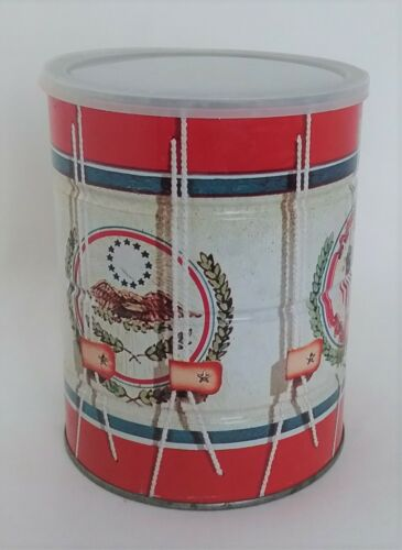 Vintage Folgers Coffee Tin Can Advertising Eagle Patriotic Empty