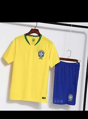 6936731075 Brand New Brasil Soccer sports Team jersey Sets Adult L