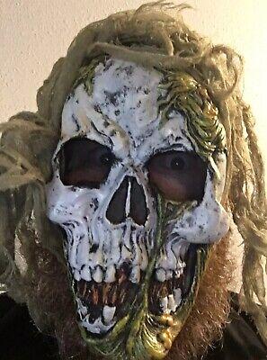 Totenkopf Skelett Maske Moos Schleim Scary Halloween Jugend (Scary Skelett Masken)