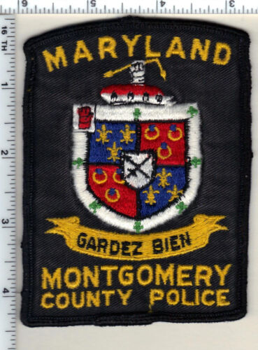 Montgomery County Police (Maryland) uniform take-off shoulder patch from 1970