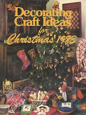 Decorating and Craft Ideas for Christmas 1983 (1983, Hardcover) ()