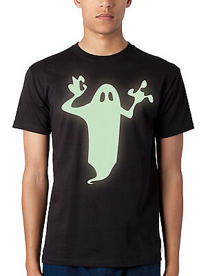 Mens scary HALLOWEEN Glow-in-the-Dark Ghost T-shirt Colours NEW S-XXL ()