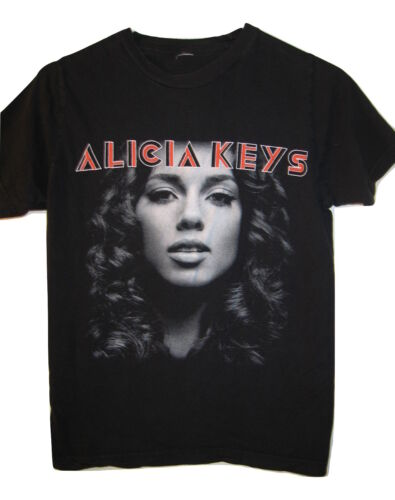 Alicia Keys As I Am 2008 concert tour t shirt top black womens size S Small