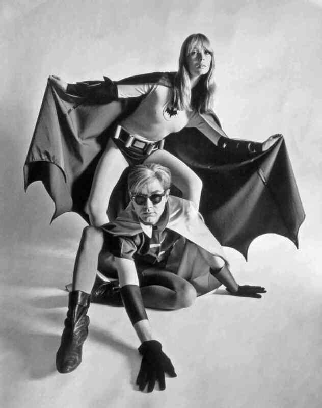 Andy Warhol And Nico As Batman Robin B&w 8x10 Photo Print