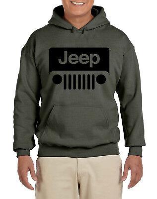 Jeep Military Green Sweat Shirt Hoodie w/Logo---Brand New--- Logo Military Sweatshirt