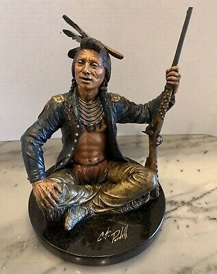 C.A.Pardell Legends Bronze Sculpture 26/500 Signed 1996 HTF Telling The Tale for sale  Marfa