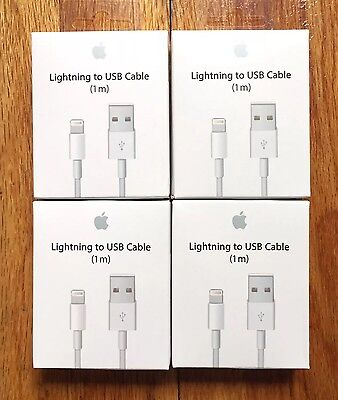 4X - OEM Original Lightning USB Charger Cable For Apple iPhone 6 6s 6 Plus 7