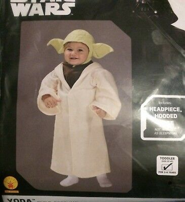 Rubies 510147 Star Wars YODA Toddler Child Romper Costume 2T-3T NEW