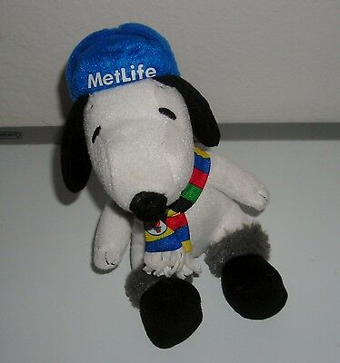"PEANUTS SNOOPY METLIFE SCARF WITH OLYMPIC FLAME 6"" PLUSH TOY"