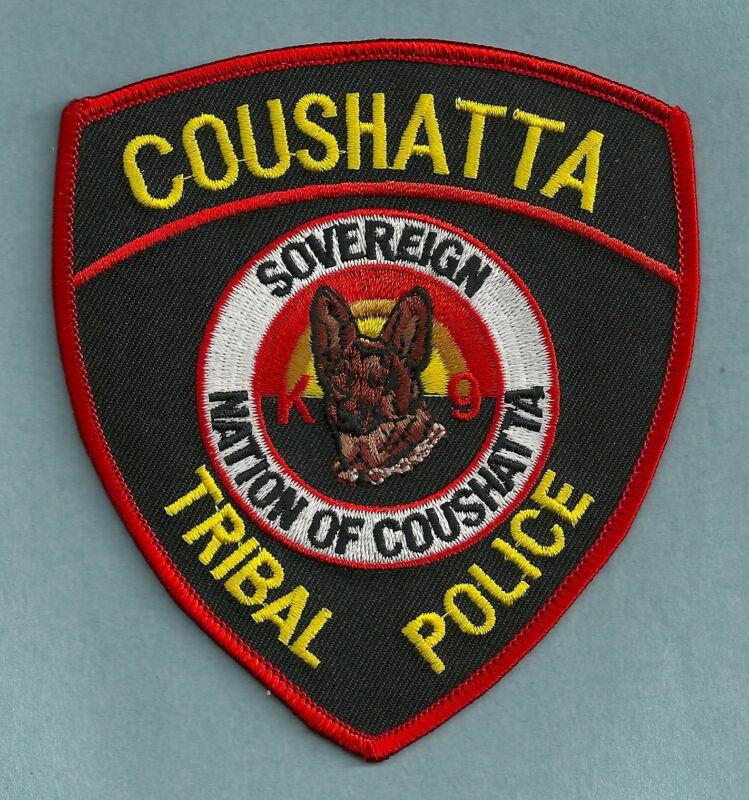 COUSHATTA LOUISIANA TRIBAL POLICE K-9 UNIT SHOULDER PATCH