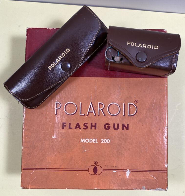 Vintage Polaroid close up Kit #540 & 541 Polarizing Colored Filter & 200 Flash
