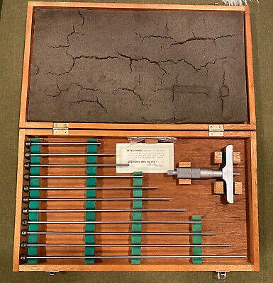 Mitutoyo Depth Micrometer 0-12 129-150 Dmc4-12