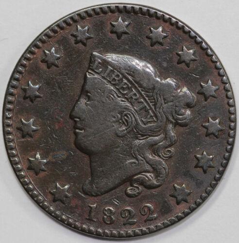 1822 1c Coronet or Matron Head Large Cent