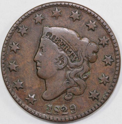 1829 1c Coronet or Matron Head Large Cent