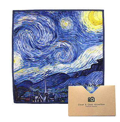 "LARGE[2 Pack](Gogh ""Starry Night"") - ULTRA PREMIUM QUALITY Microfiber Cloths"