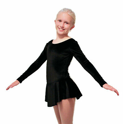 Doomiva Kids Girls Figure Ice Skating Competition Ballet Dance Stage Performance Athletic Tutu Dress