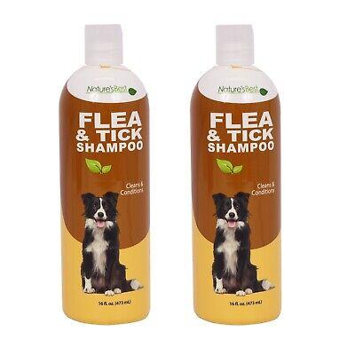 2 Nature's Best Dog Flea & Tick Shampoo Cleans & Conditions Each 16 fl (Best Flea And Tick Shampoo)