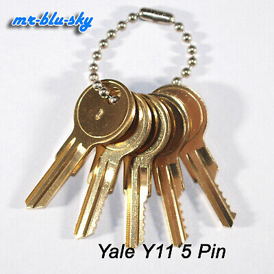 Yale Lock Y11 Space Depth Keys Locksmith Code Cutting Key Set