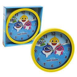 Baby Shark 10 Round Wall Clock in Open Window Box