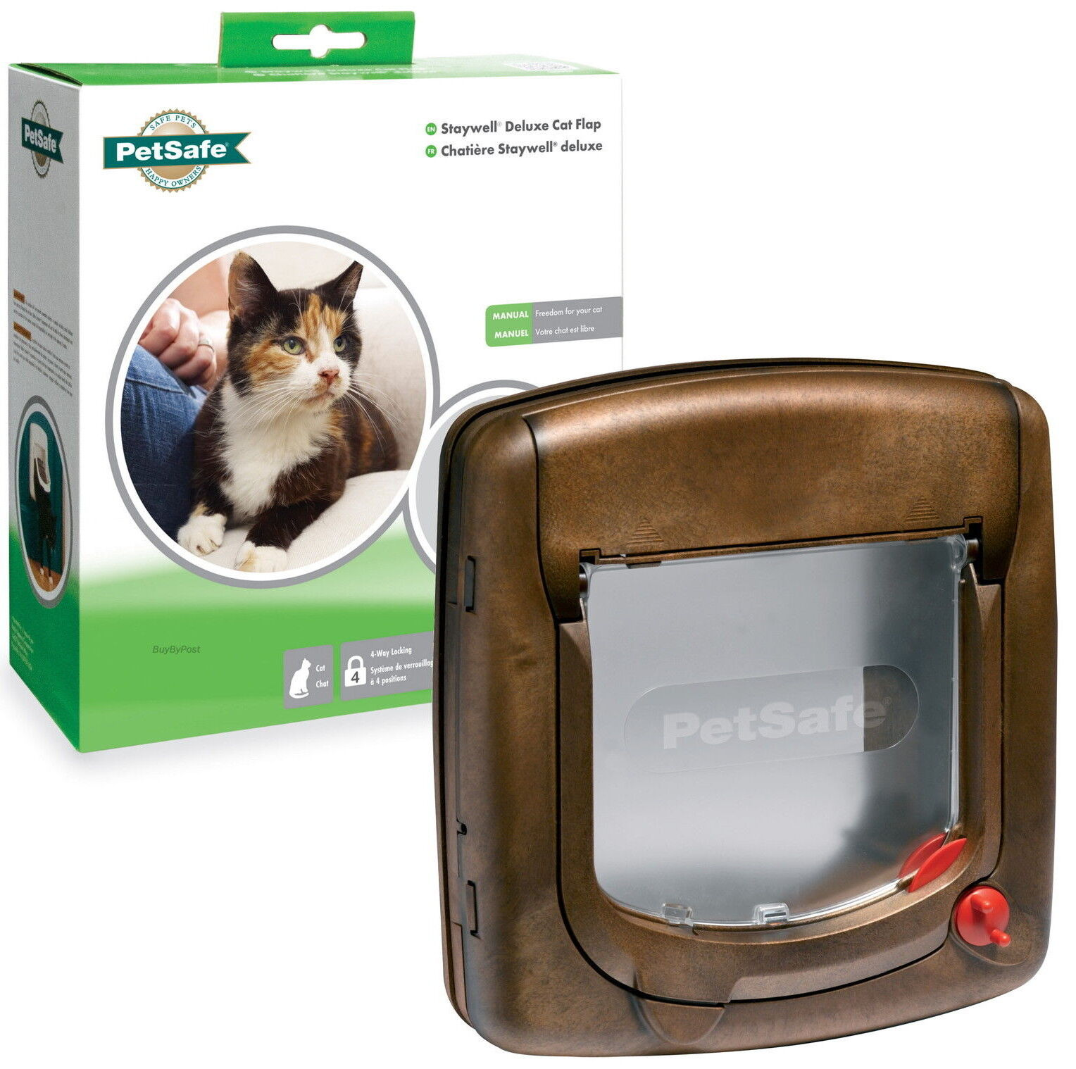 Staywell Magnetic  Way Locking Deluxe Cat Flap