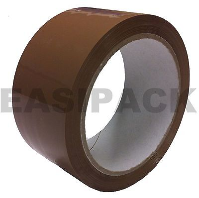72 BIG Rolls Of BROWN / BUFF Parcel Tape Packing Strong Packaging box 48mm x 66m
