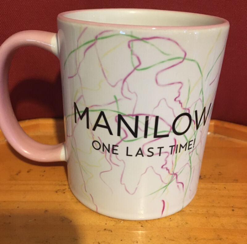 Barry MANILOW ONE LAST TIME pink Double Sided Concert Tour