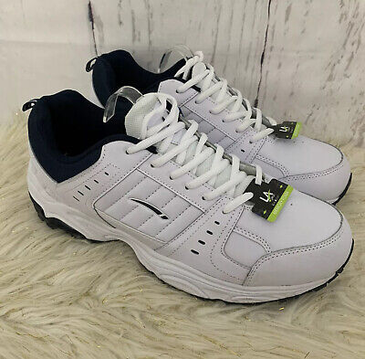 LA Gear Men's White Leather Ultra Foam Memory Foam Comfort Sneakers Size 12W NWT