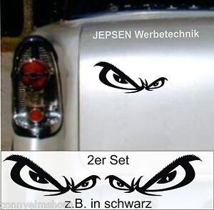 No Fear Augen Aufkleber 2er Set 10x4 cm M6 Cartattoo Biketattoo - in Wunschfarbe