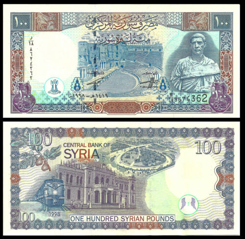SYRIA 100 POUNDS 1998 P-108 UNC