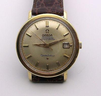 Vintage Gold Top Mans Omega Constellation Chronometer 24 Jewels CD 168.004 36mm