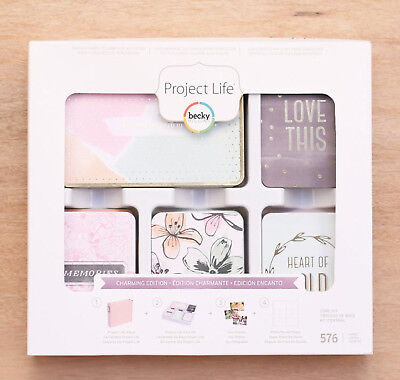 576 Pieces Project Life 380671 Kit Core Edition-Charming-Gold Foil