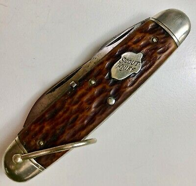 Vintage REMINGTON UMC Scout Knife -- Rare Acorn 4-Blade R3333 made 1924-1933