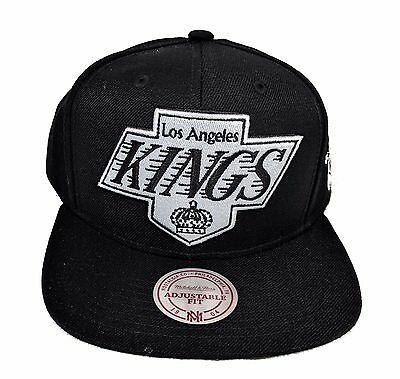 Los Angeles Kings Mitchell & Ness XL Vintage Black White  Snapback Hat Cap -