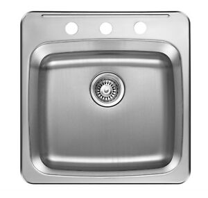 """SS single bowl Drop-in SINK 20""""x20"""" for $75 & 15""""x15"""" for 65!!!"""