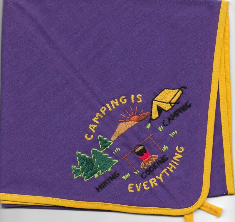 Generic Camping is Everything Purple Neckerchief Boy Scouts of America BSA