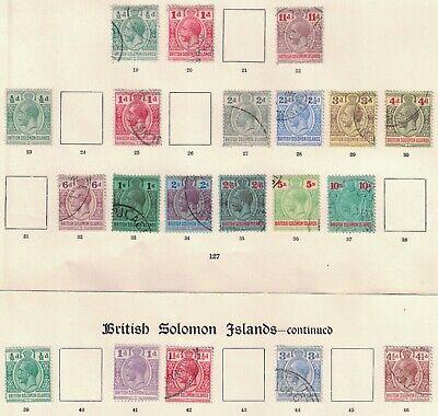 BRITISH SOLOMON ISLANDS, KGV, MINT & MAINLY USED (20).