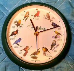 Mark Feldstein & Associates Audubon Singing Bird Clock, Tested. Pre Owned Nice