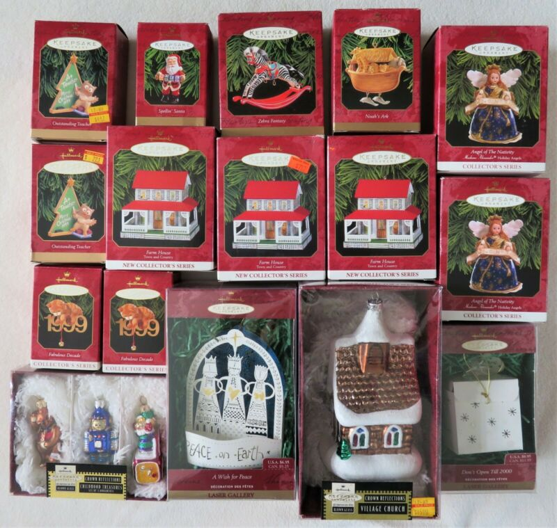 Hallmark Keepsake Ornaments 1999 - Box 1 (Lot of 16)