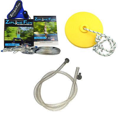 Adventure Parks ZL90 90' Zipline Fun Trolley & Cable Kit with Seat & Brake New](Zipline Fun)