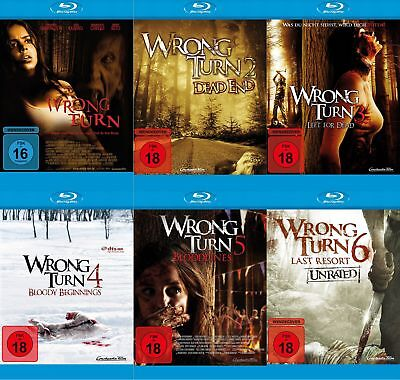 Wrong Turn 1+2+3+4+5+6 (Bloodlines / Dead End / Last Resort) # 6-BLU-RAY-SET-NEU ()