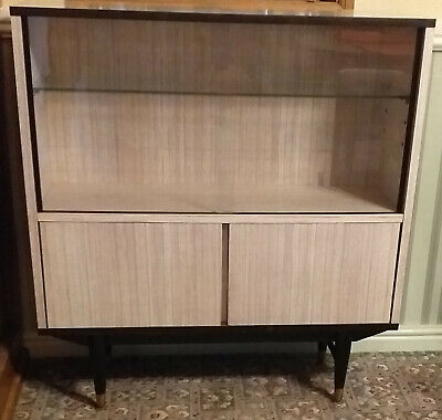 Retro mid-century BERRY melamine bookcase / display cabinet - superb condition