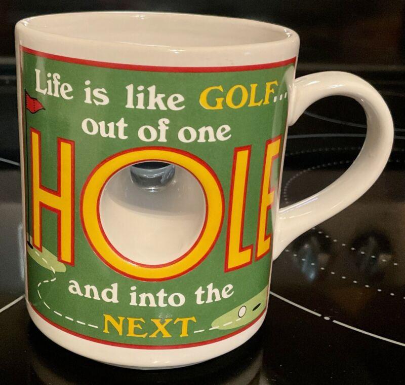 """Vintage Golf Hole Mug  """"Life is like golf..out of one hole & into the next"""" Mug"""