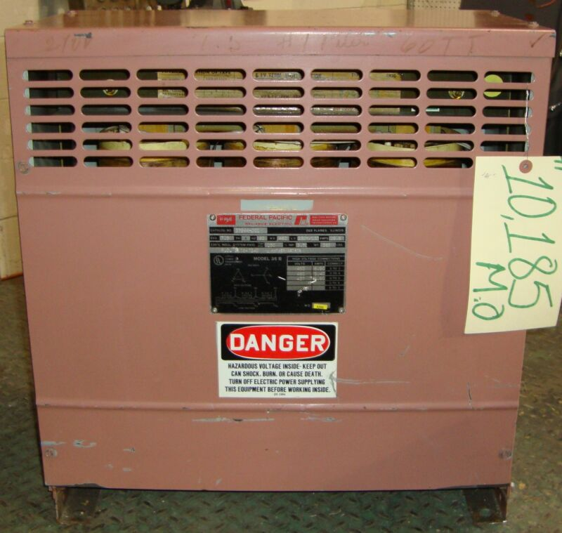 Federal Pacific Reliance Electric Transformer  10185MO
