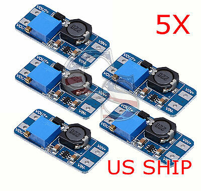 5x Dc-dc Digital Display Step Up Boost Board Converter Power Module