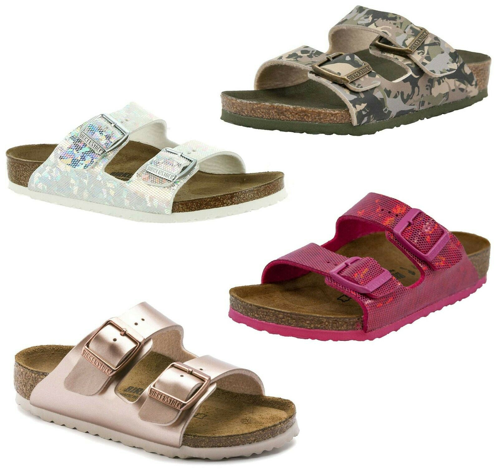 NEW Birkenstock Kids Unisex ARIZONA Girls Boys 2-Stripes Summer Sandals Slides