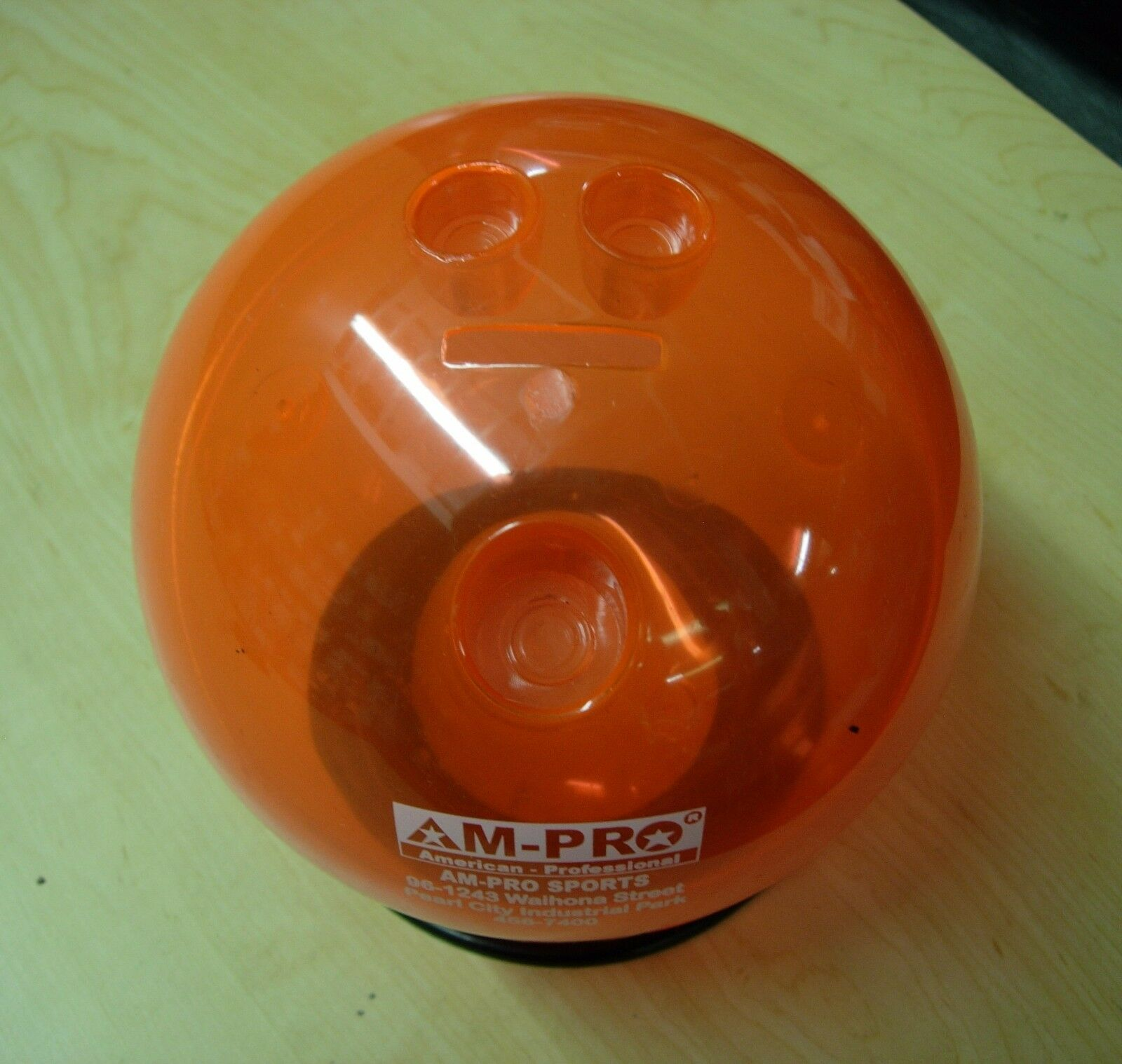 """""""= Orange 6"""""""" Diameter Bowling Ball Bank With Ball Cup"""""""